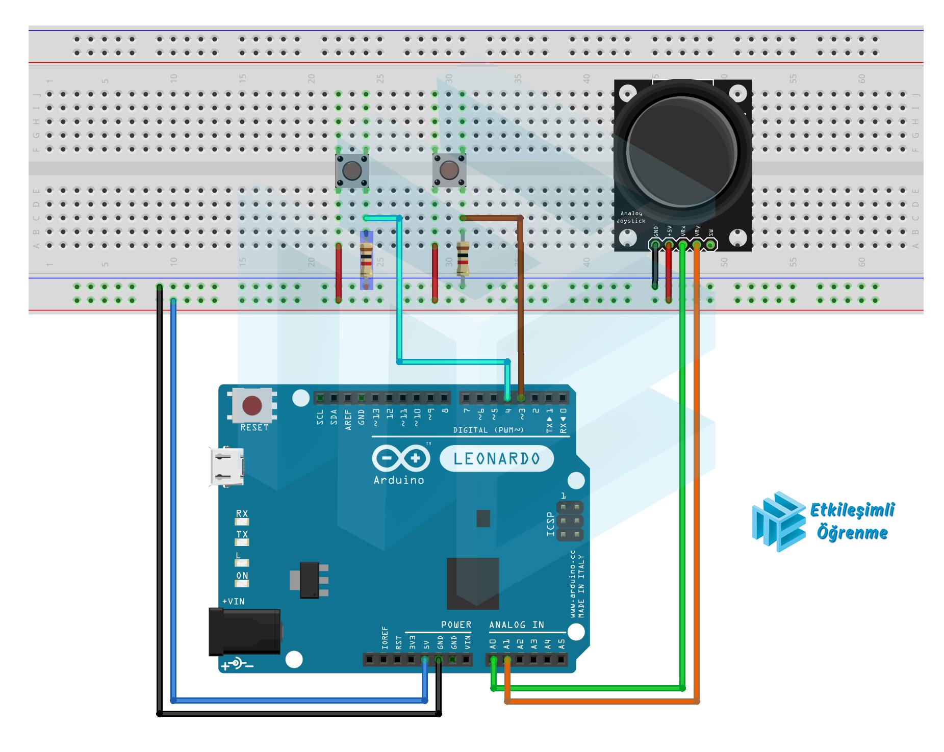 Joystick Modülü ile Fare (Mouse) Yapımı